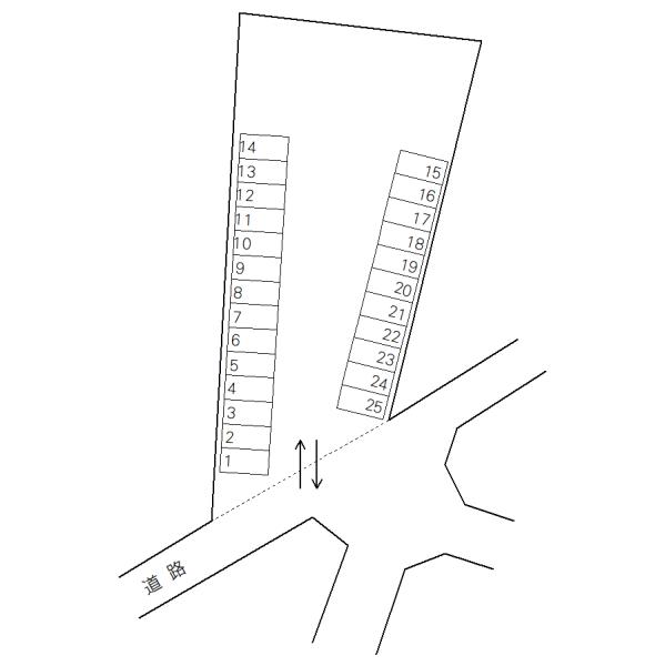 プランタンコリーヌ第2駐車場(水戸市)