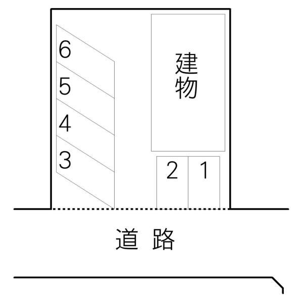 吉川ハイツ 敷地内駐車場(水戸市)